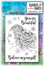 Rubber Dance Unmounted Stamp Set - Beautiful You by Deborah Wainwright